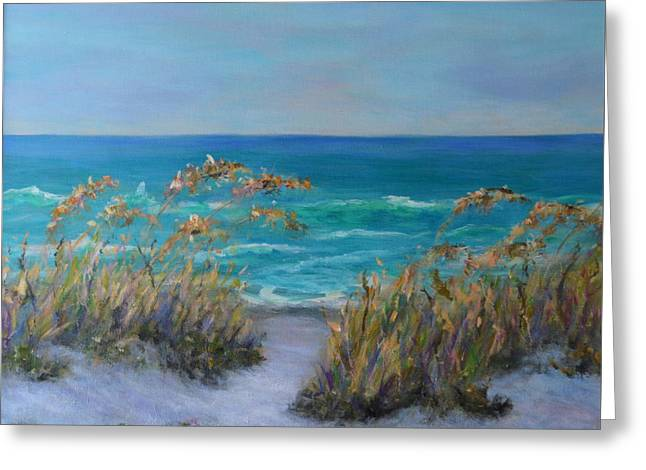 Dunes Path Ocean Painting Part 1 Greeting Card