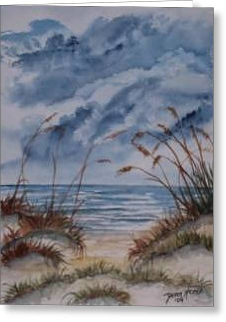 Dunes Seascape Fine Art Poster Print Seascape Greeting Card by Derek Mccrea