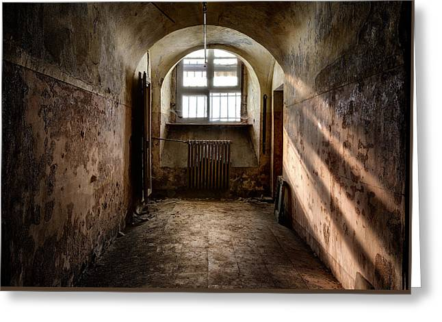 Dungeon With A View - Urban Exploration Greeting Card by Dirk Ercken