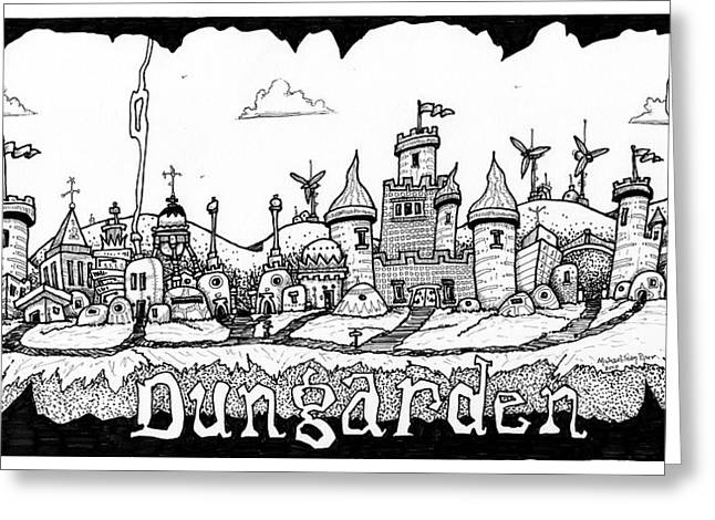 Dungraden Greeting Card by Michael Sean Piper