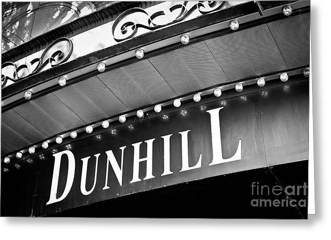 Dunhill Bw Greeting Card