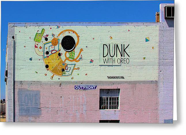 Dunk With Oreo Greeting Card