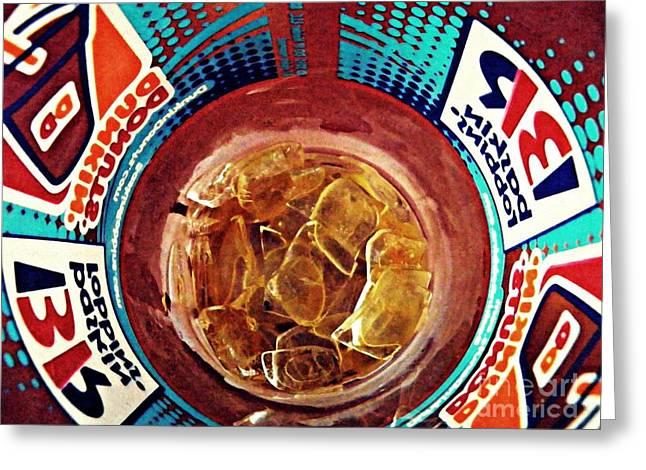 Dunkin Ice Coffee 19 Greeting Card by Sarah Loft