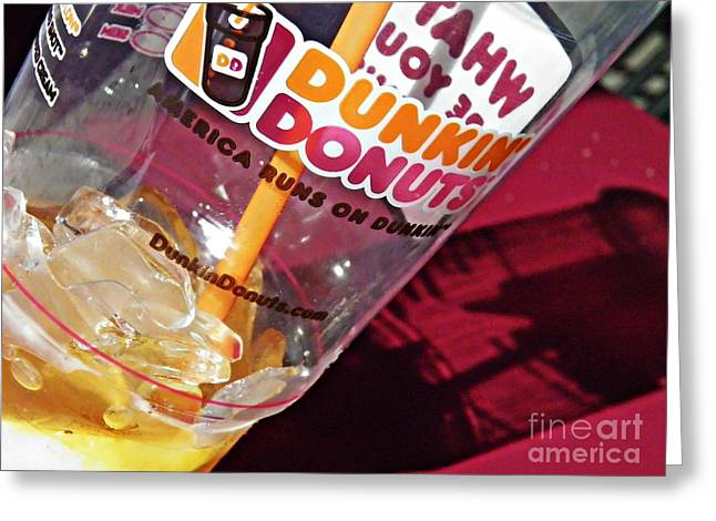 Dunkin Ice Coffee 29 Greeting Card by Sarah Loft
