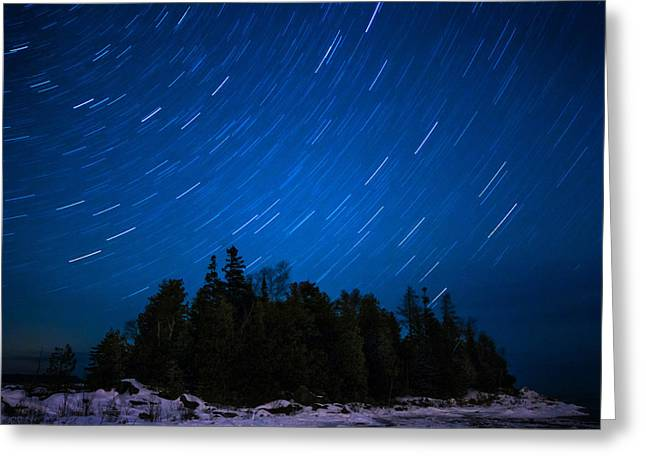Dunks Point Star Trail Greeting Card