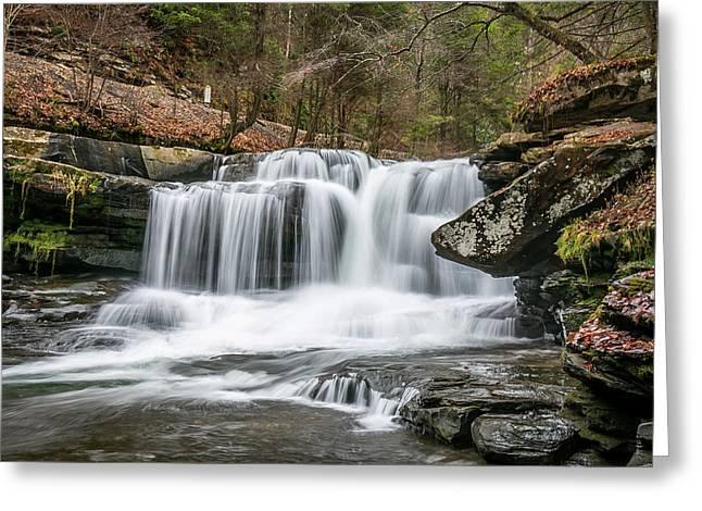 Dunloup Creek Falls Greeting Card