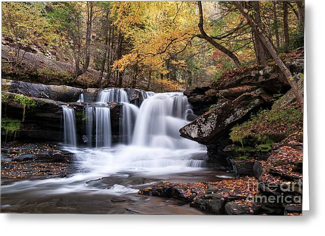 Greeting Card featuring the photograph Dunloup Falls - D009961 by Daniel Dempster