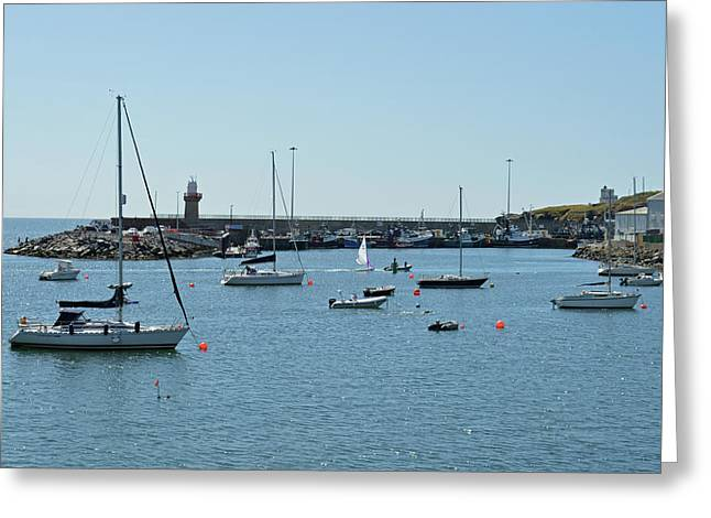Dunmore East Harbour. Greeting Card