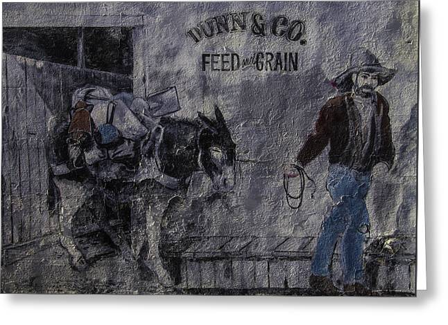 Dunn Co Feed And Grain Greeting Card by Garry Gay