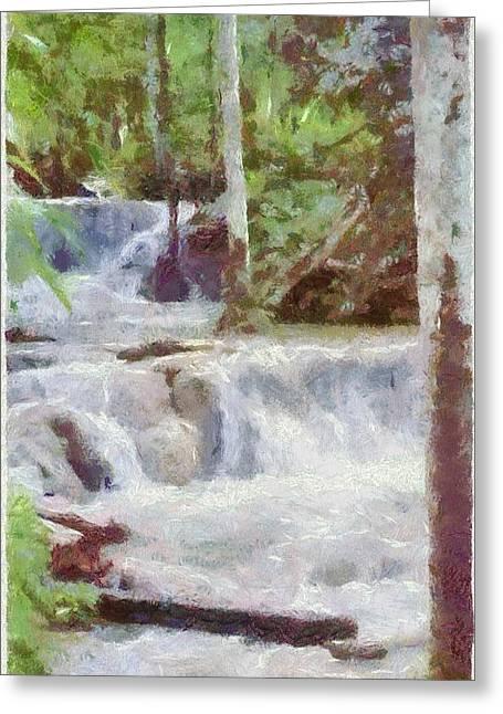 Dunn River Falls Greeting Card by Jeff Kolker
