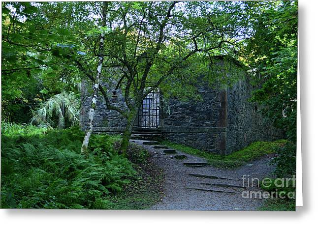 Dunstaffnage Chapel Nestled In The Woods Greeting Card by DejaVu Designs