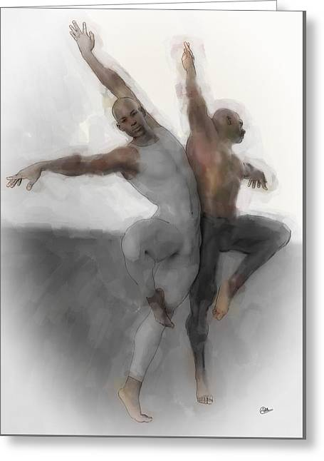 Duo Dancers Greeting Card by Quim Abella