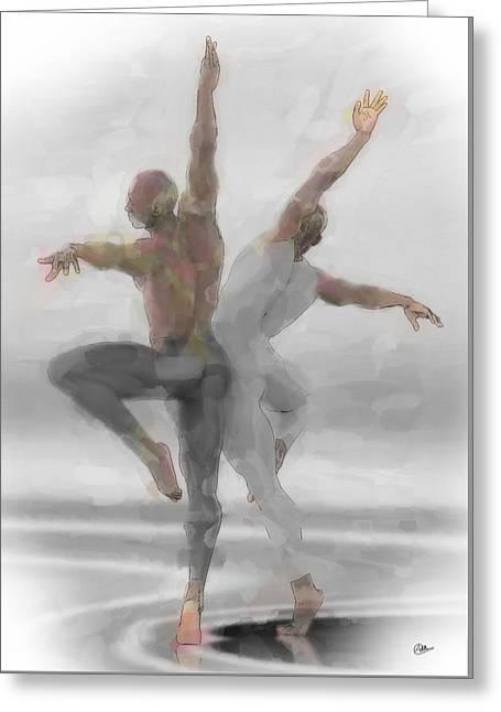 Duo De Bailarines Greeting Card by Quim Abella