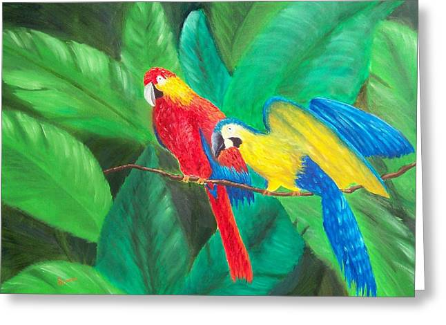Duo Greeting Card by Sandy Hemmer