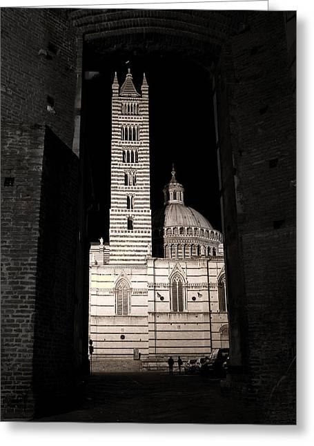 Duomo Di Siena Greeting Card by Carl Jackson