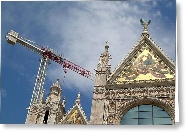 Greeting Card featuring the photograph Duomo Di Siena by Victoria Lakes