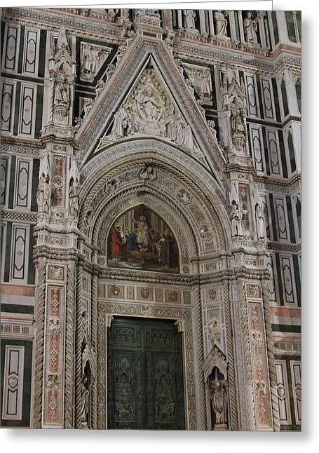 Duomo Door Detail Greeting Card