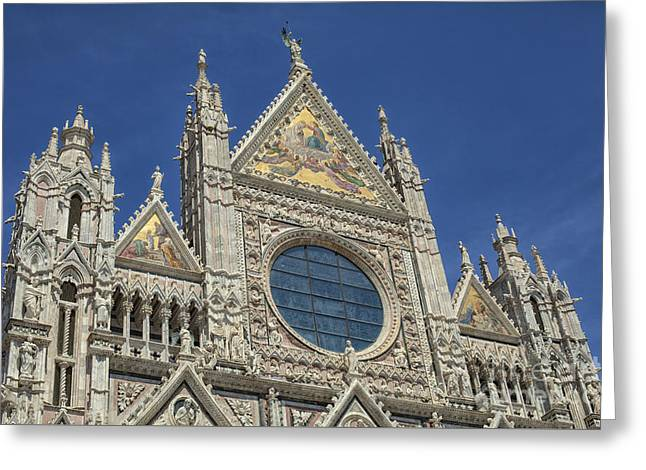 Duomo In Sienna, Italy Greeting Card by Patricia Hofmeester