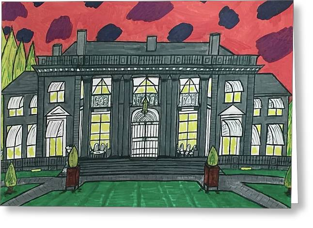 Dupont Family Mansion. Greeting Card by Jonathon Hansen