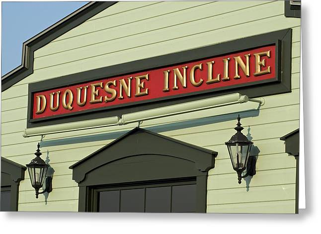 Duquesne Incline Greeting Card by Frozen in Time Fine Art Photography