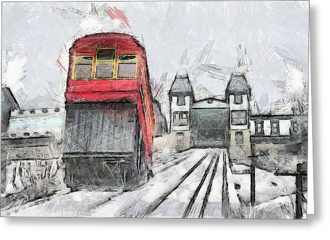 Duquesne Incline Greeting Card by Matt Matthews