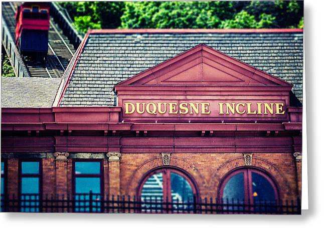 Duquesne Incline Of Pittsburgh Greeting Card by Lisa Russo