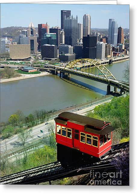 Duquesne Incline Pittsburgh Pa Greeting Card by Amy Cicconi