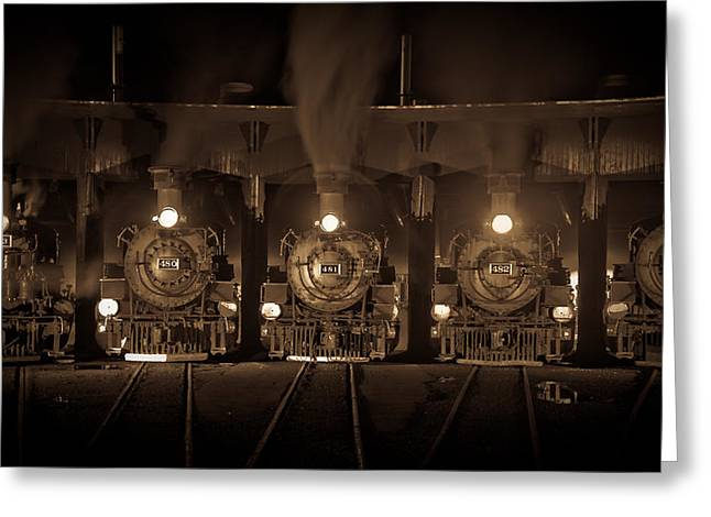 Durango Roundhouse Greeting Card by Patrick  Flynn