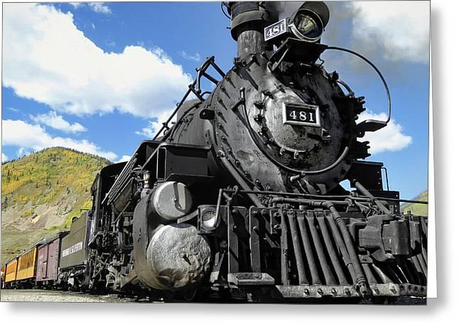 Durango Silverton Locomotive 481 - Pride Of Colorado Greeting Card by Daniel Hagerman