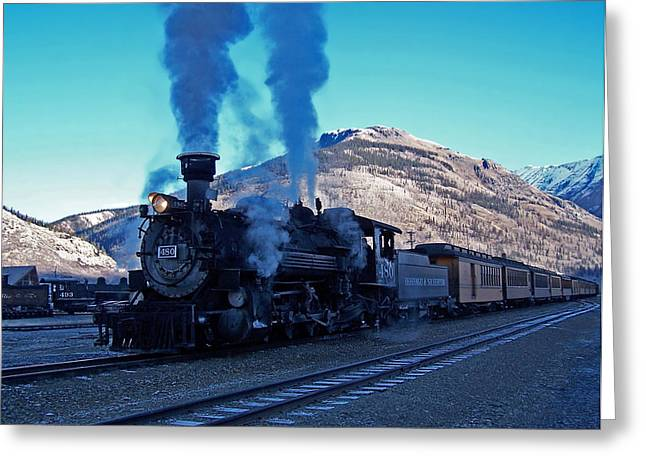 Durango Greeting Cards - Durango Silverton Narrow gauge  Greeting Card by Ernie Echols