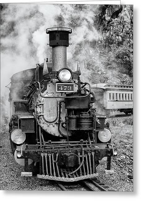 Durango Silverton Train Engine Greeting Card