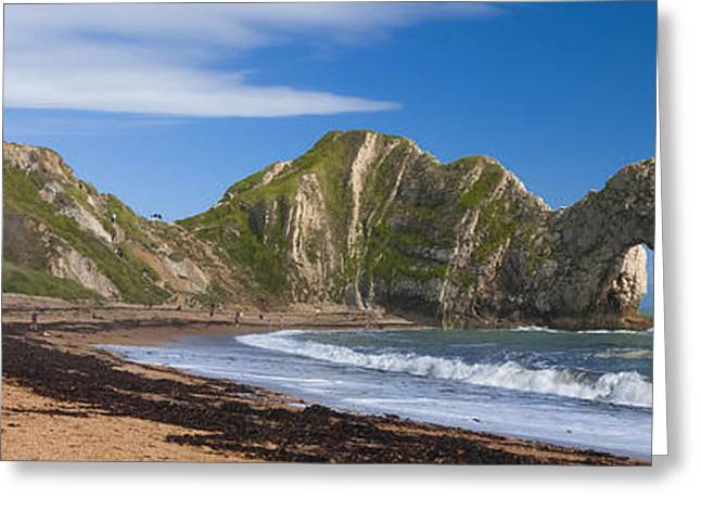 Durdle Door Dorset Uk Greeting Card by Donald Davis