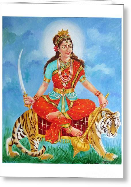 Durga Devi  Greeting Card by Kalpana Talpade Ranadive