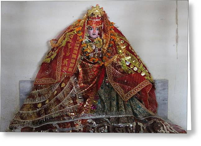 Durga Devi, Near Kainchi Greeting Card by Jennifer Mazzucco