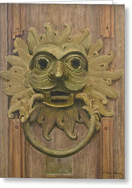 Durham Cathedral Door Knocker Greeting Card