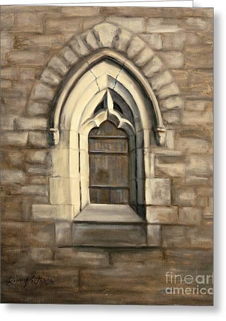 Durham Window Greeting Card by Kim Victoria