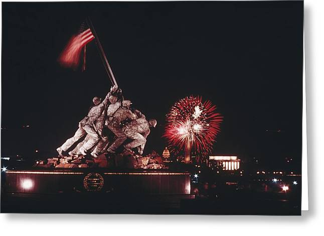 During Independence Day Celebrations Greeting Card by Joseph H. Bailey