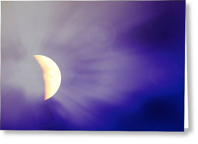Aries Moon During The Total Lunar Eclipse 3 Greeting Card