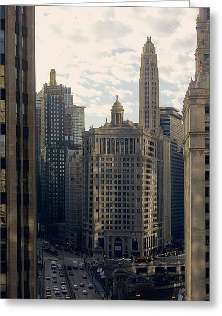 Dusable Bridge And London House Hotel - Michigan Ave - Chicago Greeting Card