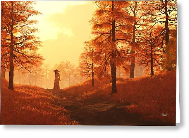 Dusk Approaches In Sleepy Hollow Greeting Card