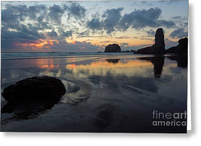 Dusk At Face Rock Greeting Card by Mike Dawson