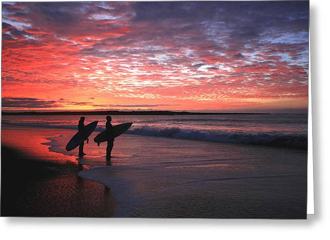Dusk At Halfmoon Bay Greeting Card by Mike Coverdale