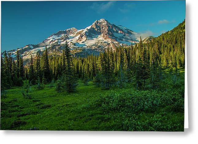 Dusk At Indian Henry Campground Greeting Card