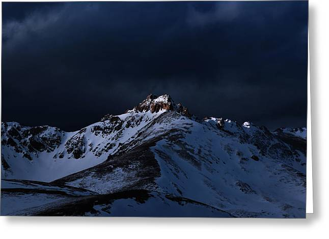 Dusk At Loveland Pass Greeting Card