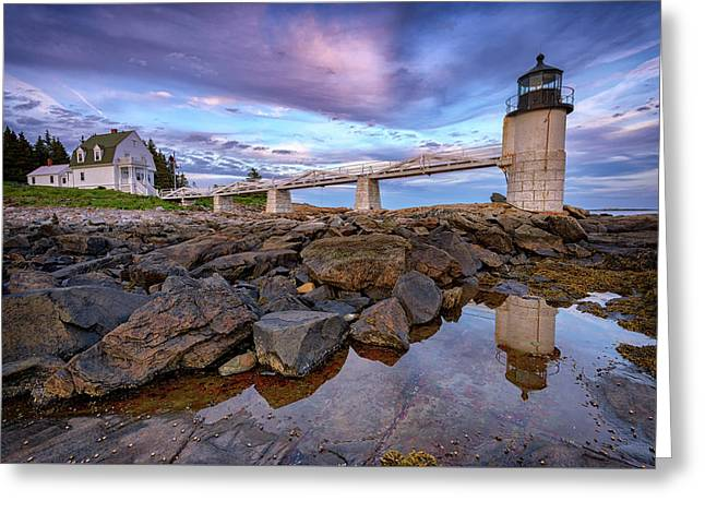 Greeting Card featuring the photograph Dusk At Marshall Point by Rick Berk
