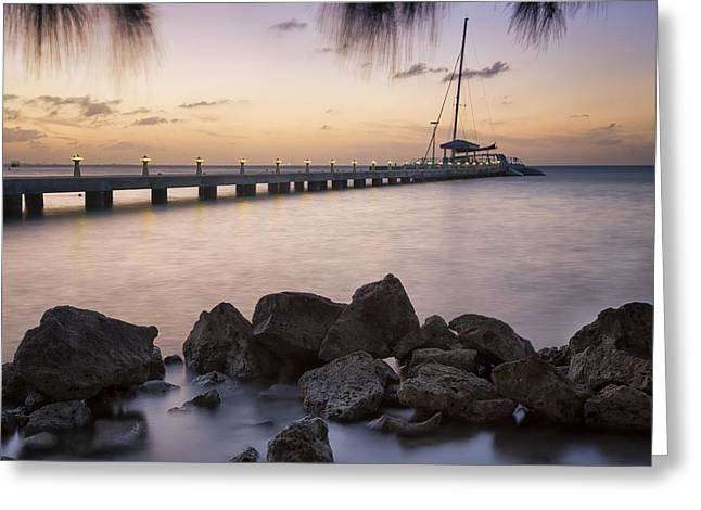 Dusk At Rum Point Grand Cayman Greeting Card