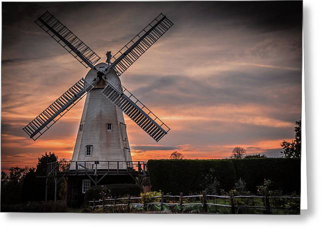 Dusk At The Mill Greeting Card by Jeremy Sage