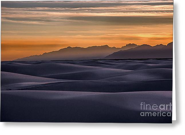 Dusk At White Sands Greeting Card