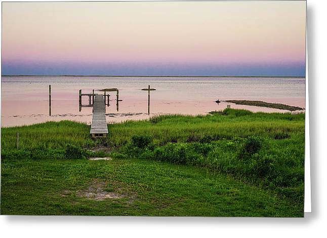 Dusk At Battle Point, Accomac, Virginia Greeting Card