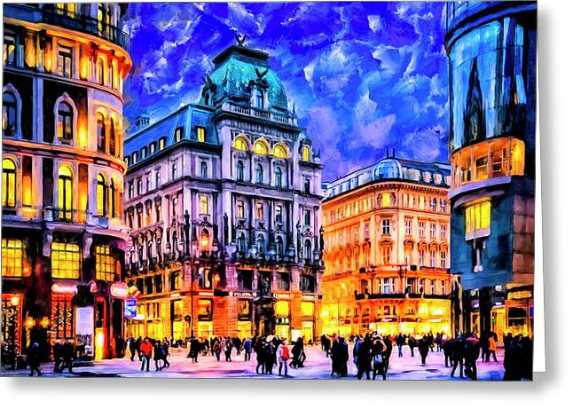 Dusk Blue Skies Over Vienna Greeting Card